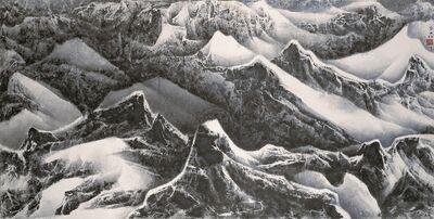 Liu Kuo-sung 刘国松, 'Cliffs Contending for Beauty 千崖競秀', 2010