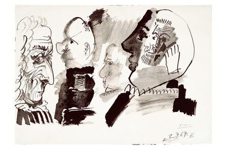 Pablo Picasso, 'Profils et Têtes', 1967