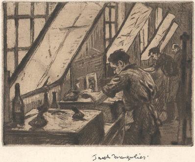 Joseph Margulies, '[Self Portrait in the Studio]'