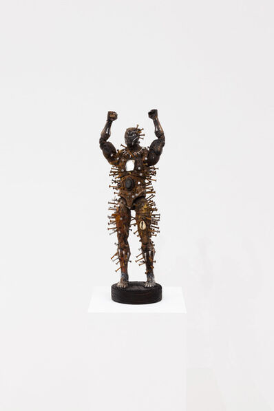 Oluseye, 'Power Figure for the American Negro: Hands up', 2020
