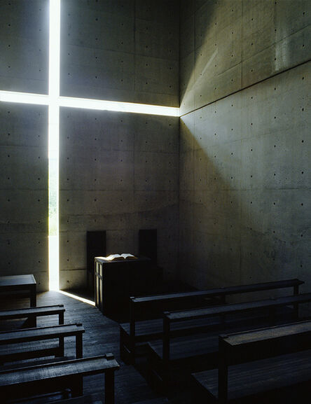 Tadao Ando, 'Church of the Light (color 1500 C)', taken in 1989-printed in 2019