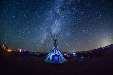 Ryan Vizzions, 'Milky Way and Tipi, Standing Rock, 2016', 2016