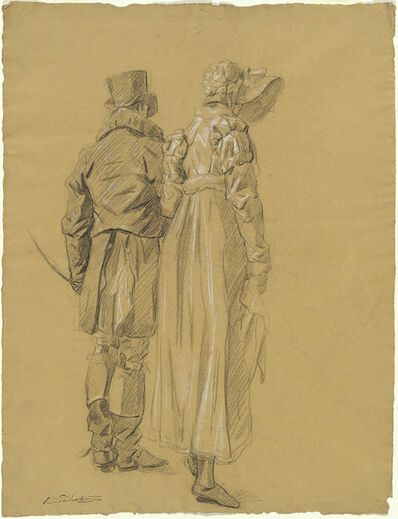 Philibert d'Amiens de Ranchicourt, 'A Fashionable Couple Seen from Behind', ca. 1810