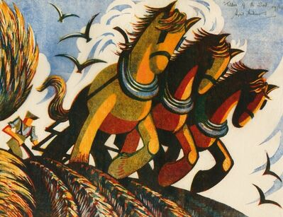 Sybil Andrews, 'Tillers of the Soil (Coppel SA 31)', 1934