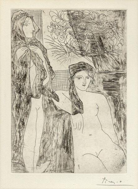 Pablo Picasso, 'Rembrandt et Deux Femmes, Plate 35 from La Suite Vollard', 1934
