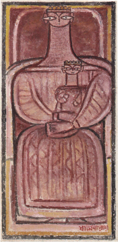 Jamini Roy, 'Untitled (Mother and Child)', 1940