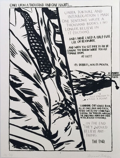 Raymond Pettibon, 'Untitled, Sold only as a Portfolio of Twelve Prints by Raymond Pettibon, 1990', 1990