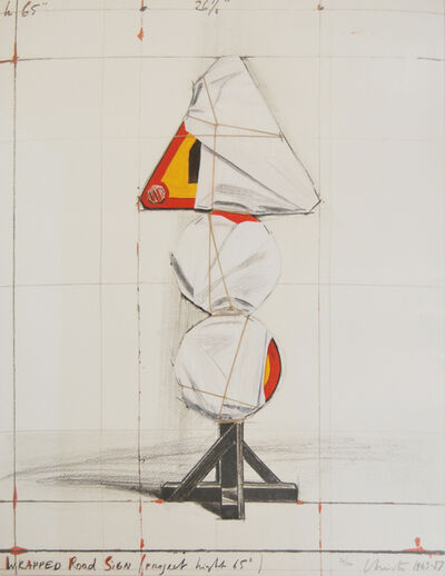 Christo, 'Wrapped Road Sign', 1988