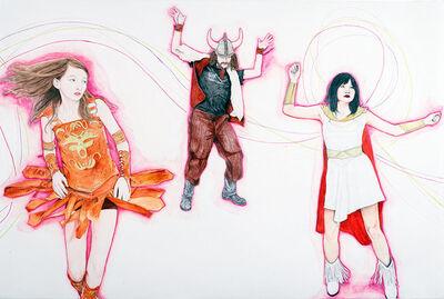 Desirée Holman, 'Dancers Dancing in Their Own Digital Ectoplasmic Cocoons 1', 2011
