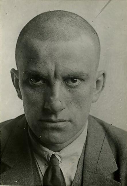 Alexander Rodchenko, 'Vladimir Mayakovskz, April 1924. Portrait, CU enface, printed by Nikokai Lavrentiev.', ca. 1955