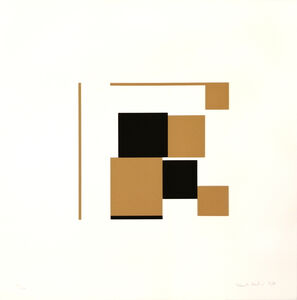 Kenneth Martin, 'Ochre and Black ', 1951-1981