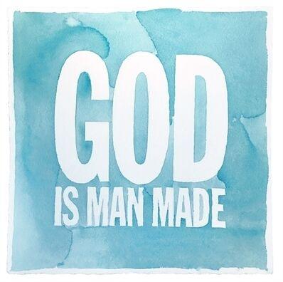 John Giorno, 'God is man made', 2014