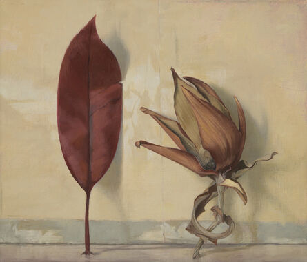 Susan Angharad Williams, 'Red Leaf with Artichoke Fragment'