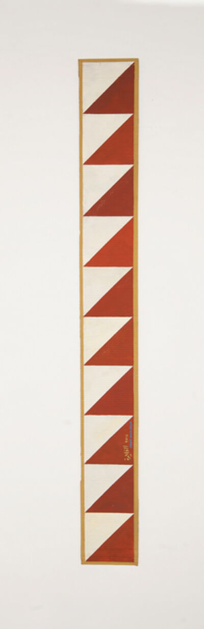 Chant Avedissian, 'B12 - Ancient Egyptian pattern, red triangles on white', 2016