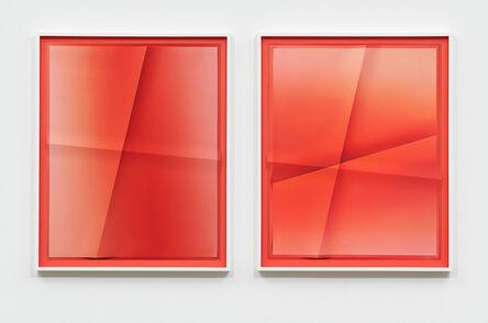 John Houck, 'Accumulator #34.8, 2 Color Gradient #FE643E, #FA5043', 2020
