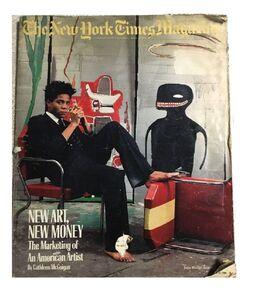 "Jean-Michel Basquiat, '""New Art. New Money"" New York Times Magazine.', 1985"
