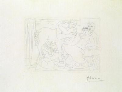 Pablo Picasso, 'Le Repos Du Sculpteur Devant Un Centaure Et Une Femme. 1933'