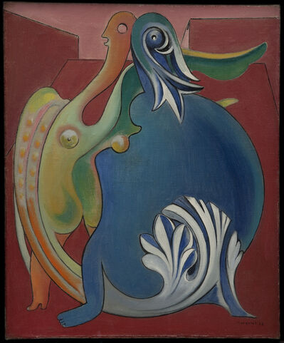 Max Ernst, 'Two Sexless Figures. Chimerae', 1933