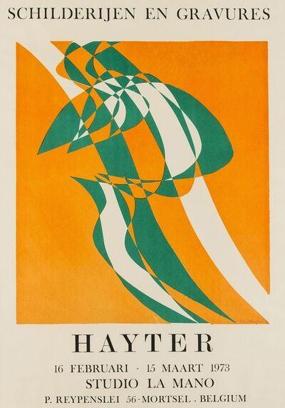 Stanley William Hayter CBE, 'Champ orange (Black & Moorehead 363)', 1973