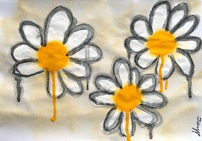 Okrabelo, '3 White Flowers', 2020