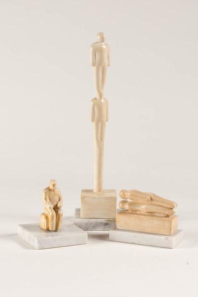 Tom Otterness, '(i) Vertical Figures (ii) Sitting Man II (iii) Couple II'