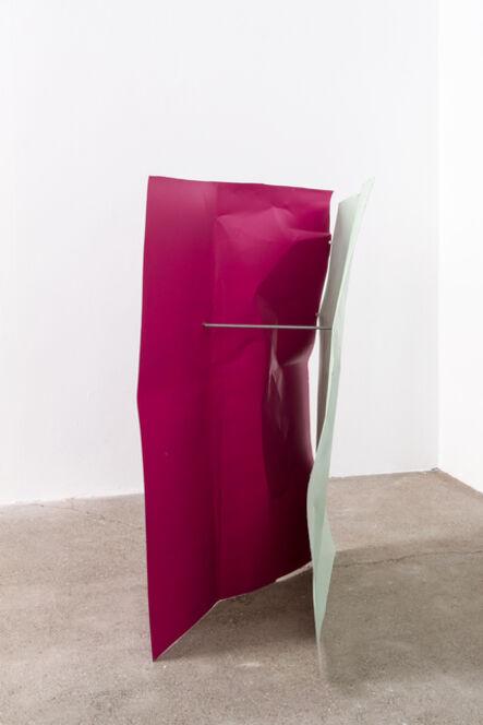 Michael Kienzer, 'Blassgrün/Rotlila/Rotlila (Flyer 3-teilig)', 2016-2018