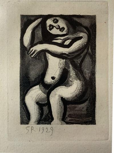 Georges Rouault, 'Nu Assis, from the Les Réincarnations du Père Ubu Portfolio', 1929