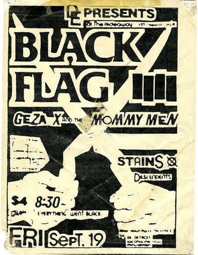 Raymond Pettibon, 'Raymond Pettibon Illustrated Handbill (Pettibon Black Flag)', 1980