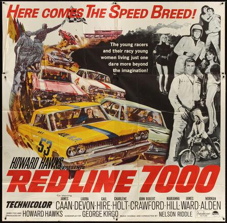 Anon, 'RED LINE 7000 6sh '65 Howard Hawks, James Caan, car racing artwork, meet the speed breed!', 1965