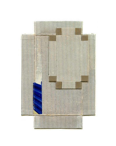 Linda Lindroth, 'Blue Stripe Gray Squares', 2014