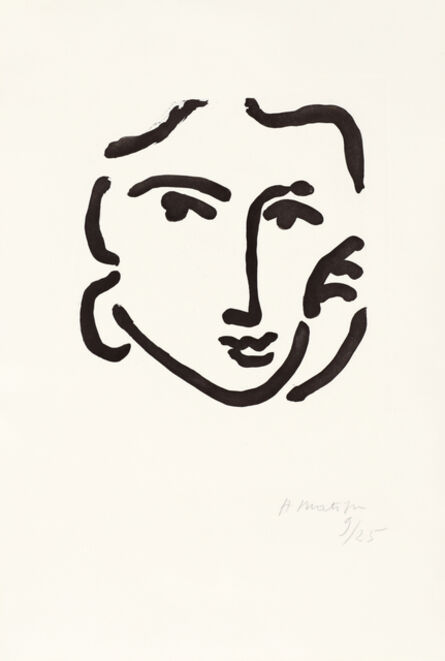 Henri Matisse, 'Nadia au regard sérieux', 1948