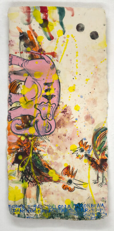 Cappy Thompson and Dick Weiss, 'TWO ROOSTERS, PINK ELEPHANT', 2018