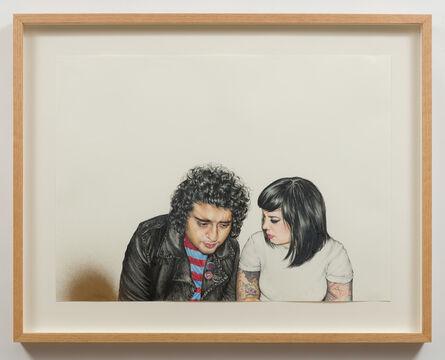 Shizu Saldamando, 'Josué and Tamara', 2014