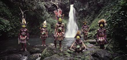 Jimmy Nelson, 'Tumbu, Hangu, Peter, Hapiya, Kati, Hengene & Steven Huli Wigmen, Ambua Falls, Tari Valley Papua New Guinea', 2010