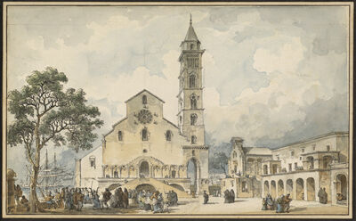 Louis-Jean Desprez, 'The Cathedral at Trani', 1778