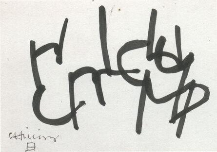 Eduardo Chillida, 'untitled', 1966