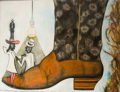 Jerry Beck, 'The Cowboy Boot Series: The White and Black of Everything', 2010