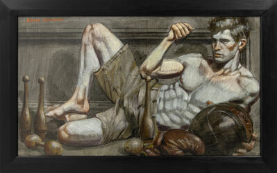 Mark Beard, '[Bruce Sargeant (1898-1938)] Reclining Athlete with Medicine Ball', n.d.