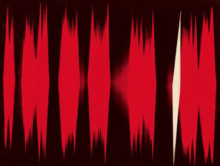 William Klein, 'Red + one white moving diamonds', 1952-53