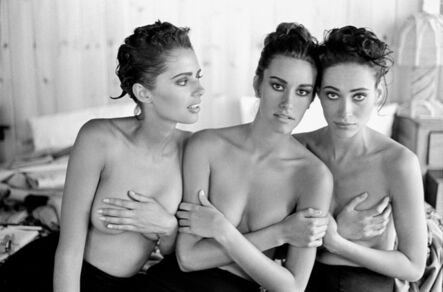 Arthur Elgort, 'Heather Whyte, Susan Holmes, and Irene Pfeiffer, Watermill, NY', 1991