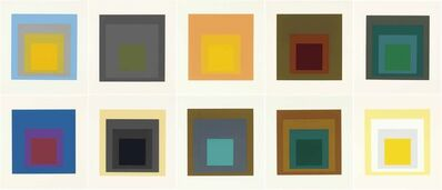 Josef Albers, 'Homage to the Square: Ten Works by Josef Albers (Complete Portfolio)', 1962