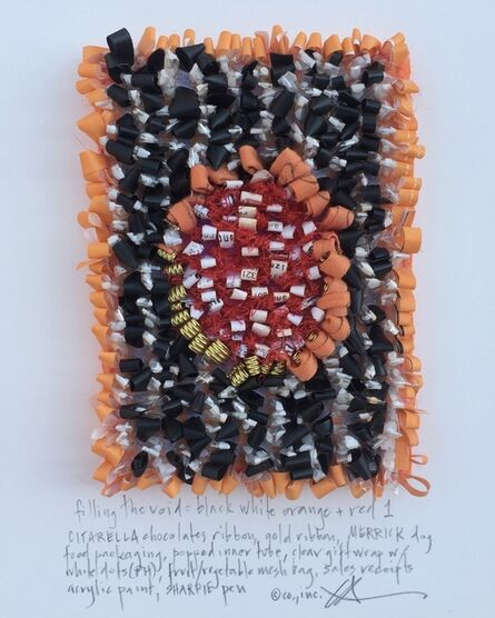 Constance Old, 'Filling the void: black white orange + red #1', 2017