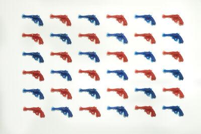 Yoram Wolberger, 'RedGunBlueGun (36 piece installation)', 2014