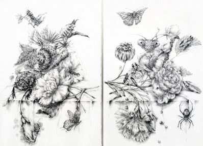 Joo Lee Kang, 'Diptych of Still Life with Insects #5, #7', 2014
