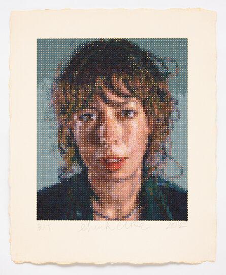 Chuck Close, 'Cecily/ Felt Hand Stamp', 2012