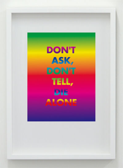 David McDiarmid, 'Don't Ask Don't Tell Die Alone', 1994 / 2012
