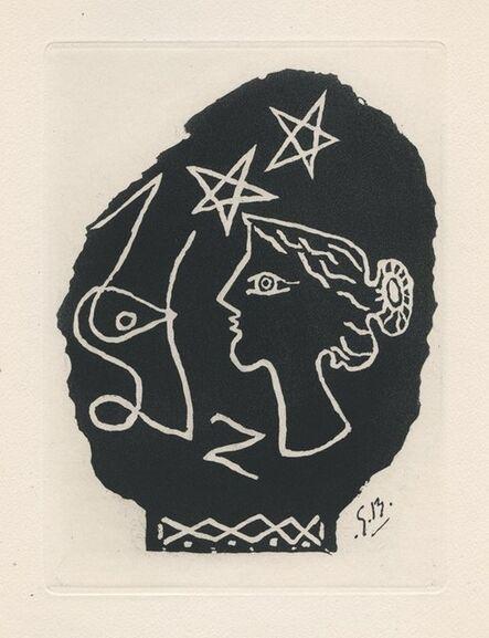 Georges Braque, 'Femme de profil', 1947