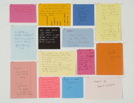 Joseph Grigely, 'Fourteen Untitled Conversations', 2002