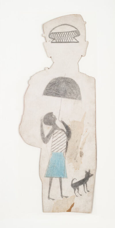 Bill Traylor, 'Untitled (woman with umbrella)', 1939-1942