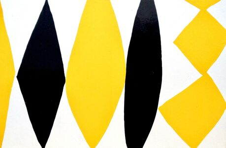 Kim MacConnel, 'Enamel Panel #6 (yellow, white, black)', 2004
